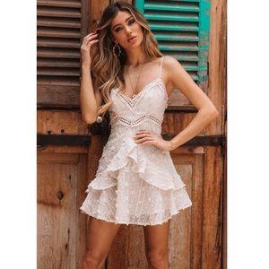 💖Hello Molly beige mini dress size XS